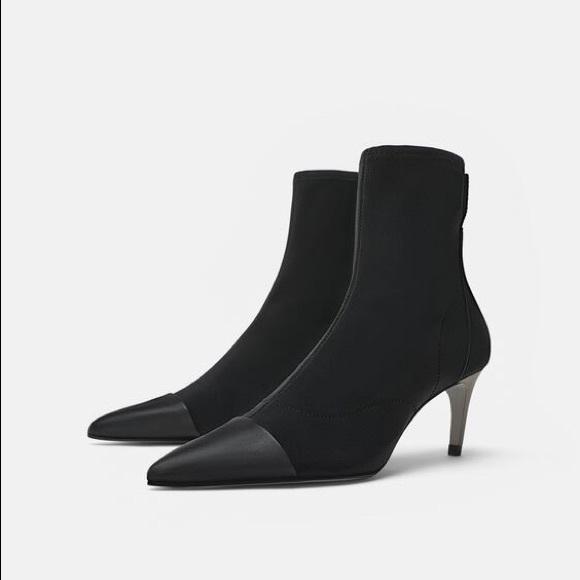 Zara Shoes | Black Techical Fabric